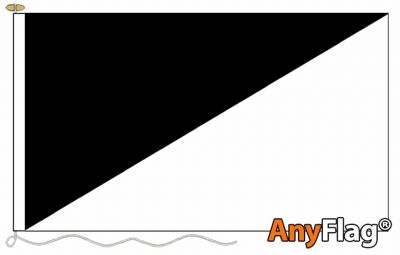 - BLACK AND WHITE DIAGONALLY ANYFLAG RANGE - VARIOUS SIZES